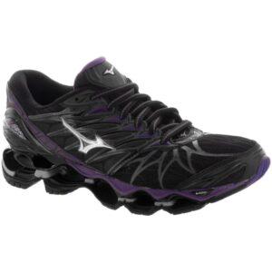 Mizuno Wave Prophecy 7 Women's Running Shoes Black/Silver Size 10 Width B - Medium