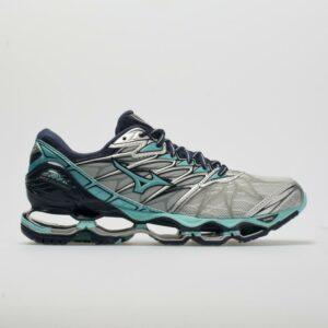 Mizuno Wave Prophecy 7 Women's Running Shoes Silver/Aqua Splash Size 6.5 Width B - Medium