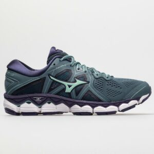 Mizuno Wave Sky 2 Women's Running Shoes Blue Mirage/Purple Plumeria Size 6.5 Width B - Medium