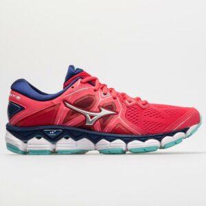 Mizuno Wave Sky 2 Women's Running Shoes Teaberry/Blue Depths Size 7.5 Width B - Medium