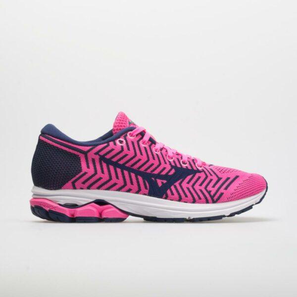 Mizuno Waveknit R2 Women's Running Shoes Pink Glo/Sodalite Blue Size 11 Width B - Medium
