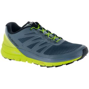 Salomon Sense Pro Max Men's Trail Running Shoes Stormy Weather/Acid Lime/Black Size 9.5 Width D - Medium