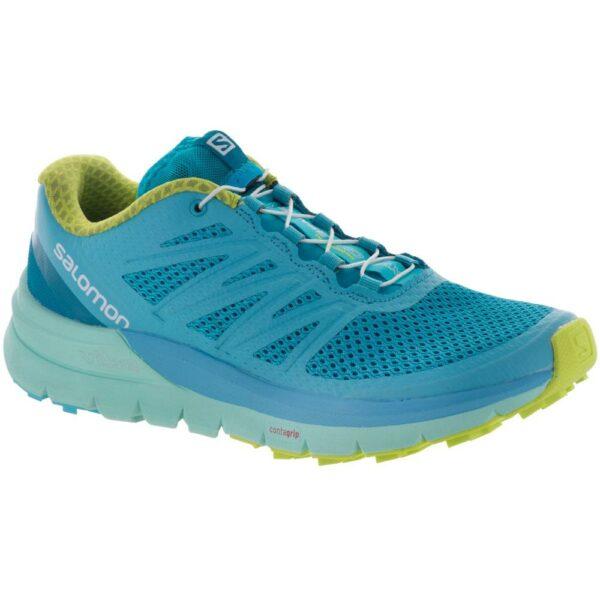 Salomon Sense Pro Max Women's Trail Running Shoes Blue Curacao/Beach Glass Size 6.5 Width B - Medium