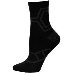 adidas Energy Running Mid-Crew Socks Black/Solar Green, Size Medium