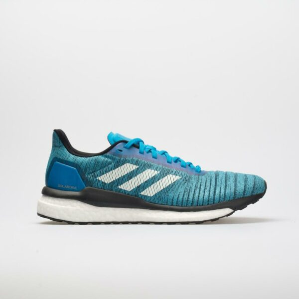 adidas Solar Drive Men's Running Shoes Shock Cyan/White/Core Black Size 13 Width D - Medium