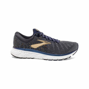 Brooks GLYCERIN 17-GREY/NAVY/GOLD-10-D