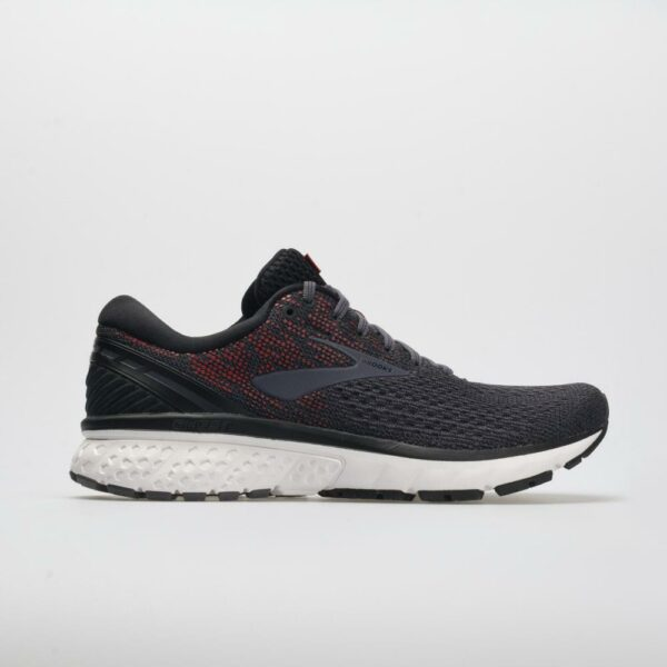 Brooks Ghost 11 Men's Running Shoes Black/Graystone/Cherry Size 12.5 Width D - Medium