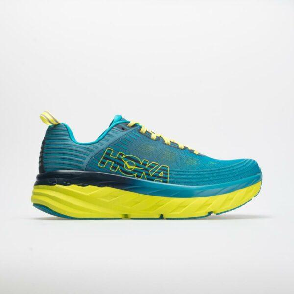 Hoka One One Bondi 6 Men's Running Shoes Carribbean Sea/Storm Blue Size 8.5 Width D - Medium