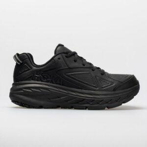Hoka One One Bondi Leather Men's Walking Shoes Black Size 13 Width D - Medium