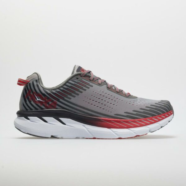 Hoka One One Clifton 5 Men's Running Shoes Alloy/Steel Gray Size 9 Width D - Medium