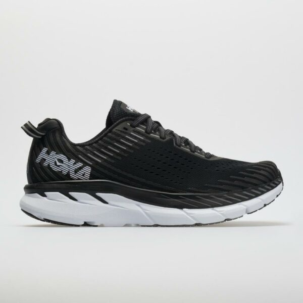 Hoka One One Clifton 5 Men's Running Shoes Black/White Size 15 Width D - Medium