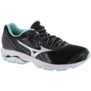 Mizuno Wave Inspire 14 Women's Running Shoes Black/Silver Size 7 Width B - Medium