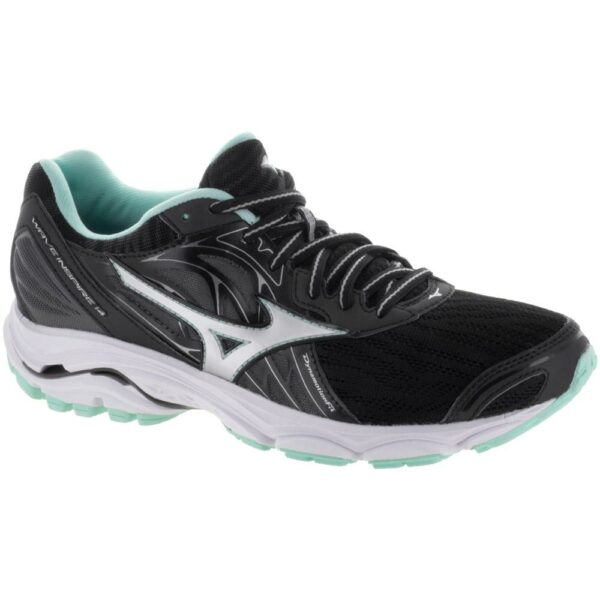 Mizuno Wave Inspire 14 Women's Running Shoes Black/Silver Size 7 Width B - Medium