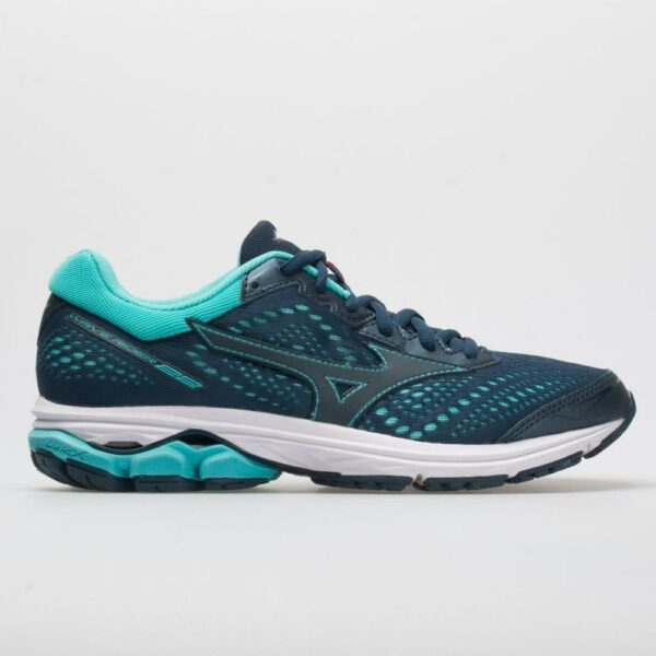 Mizuno Wave Rider 22 Women's Running Shoes Blue Wing Teal Size 10.5 Width B - Medium