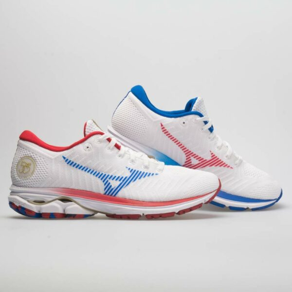 Mizuno Waveknit R2 Peachtree 50th Women's Running Shoes White/Red Size 9 Width B - Medium