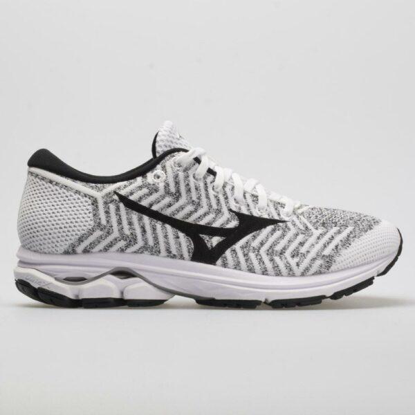 Mizuno Waveknit R2 Women's Running Shoes White/Black Size 6.5 Width B - Medium