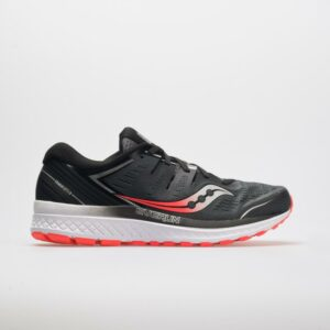 Saucony Guide ISO 2 Men's Running Shoes Black/Gray Size 10 Width EE - Wide