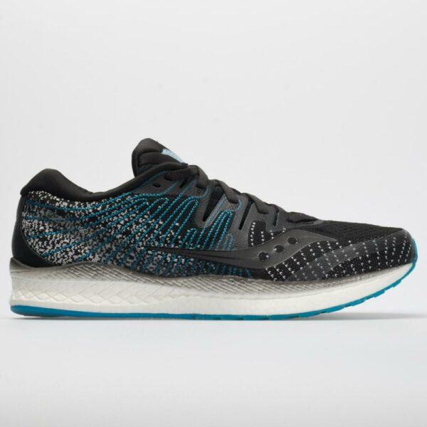 Saucony Liberty ISO 2 Men's Running Shoes Black/Blue Size 9.5 Width D - Medium