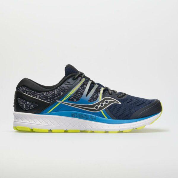 Saucony Omni ISO Men's Running Shoes Navy/Blue/Citron Size 9 Width D - Medium
