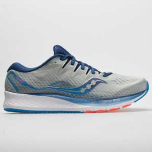 Saucony Ride ISO 2 Men's Running Shoes Gray/Blue Size 9 Width EE - Wide
