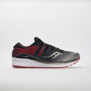 Saucony Ride ISO Men's Running Shoes Gray/Black Size 12 Width D - Medium