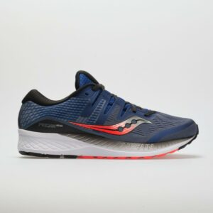 Saucony Ride ISO Men's Running Shoes Grey/Blue/ViZiRed Size 11 Width D - Medium