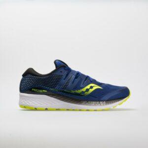 Saucony Ride ISO Men's Running Shoes Navy/Citron Size 12.5 Width D - Medium