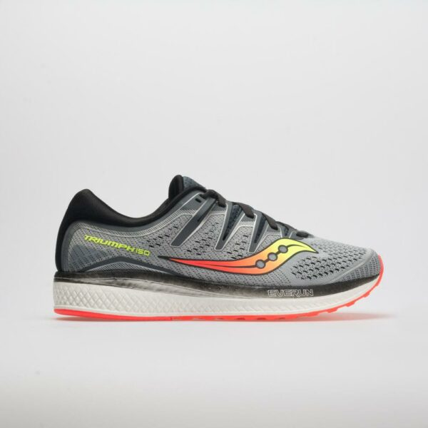 Saucony Triumph ISO 5 Men's Running Shoes Gray/Black Size 8 Width D - Medium