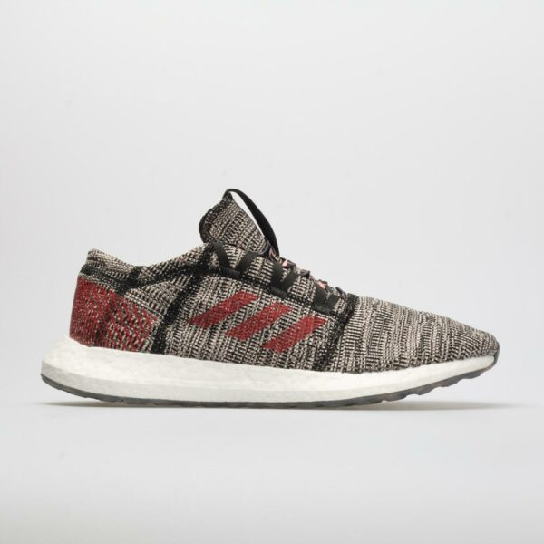 adidas PureBOOST GO Men's Running Shoes Core Black/Scarlet/Clear Orange Size 12 Width D - Medium