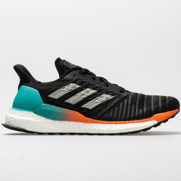 adidas Solar Boost Men's Running Shoes Black/Grey/Hi-Res Aqua Size 8.5 Width D - Medium