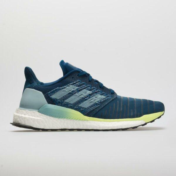 adidas Solar Boost Men's Running Shoes Legend Marine/Ash Grey/Hi-Res Yellow Size 14 Width D - Medium