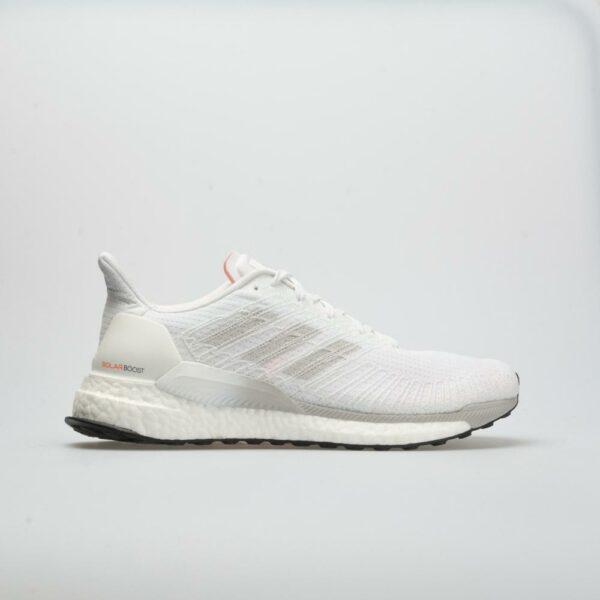 adidas Solar Boost Men's Running Shoes White/Gray/Solar Orange Size 12 Width D - Medium