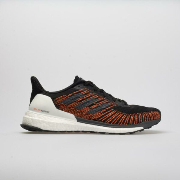 adidas Solar Boost ST Men's Running Shoes Core Black/Gray/Solar Orange Size 10 Width D - Medium