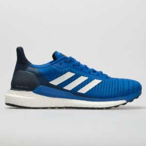 adidas Solar Glide Men's Running Shoes Blue/White/Collegiate Navy Size 9.5 Width EE - Wide