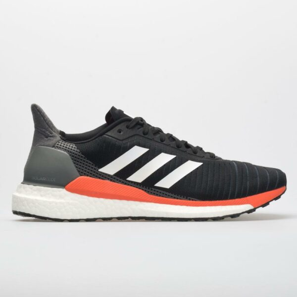 adidas Solar Glide Men's Running Shoes Core Black/White/Solar Orange Size 9 Width D - Medium