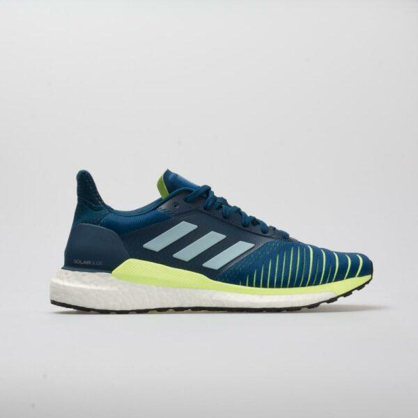 adidas Solar Glide Men's Running Shoes Legend Marine/Ash Grey/Hi-Res Yellow Size 11 Width D - Medium
