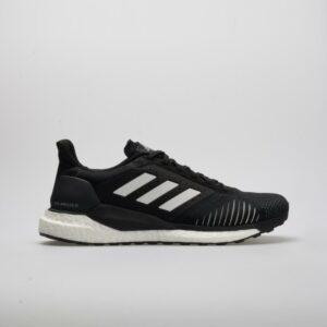 adidas Solar Glide ST Men's Running Shoes Black/White Size 9 Width D - Medium