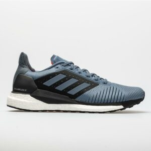 adidas Solar Glide ST Men's Running Shoes Raw Steel/Hi-Res Aqua Size 12 Width D - Medium