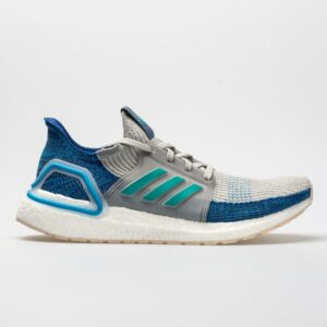 adidas Ultraboost 19 Men's Running Shoes Grey Two/Hi-Res Aqua/Shock Cyan Size 9 Width D - Medium