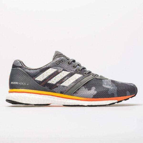 adidas adizero Adios 4 Men's Running Shoes Gray/Gold Metallic/Collegiate Navy Size 11.5 Width D - Medium
