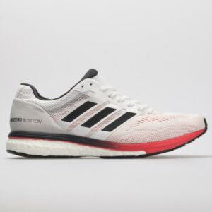adidas adizero Boston 7 Men's Running Shoes White/Carbon/Shock Red Size 9 Width D - Medium