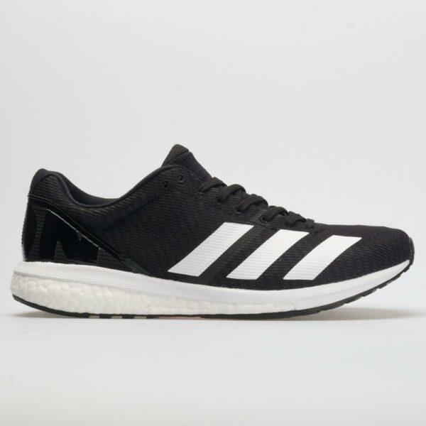 adidas adizero Boston 8 Men's Running Shoes Core Black/White/Gray Size 8.5 Width D - Medium