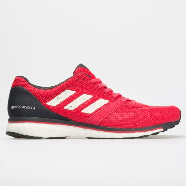 adidas adizero adios 4 Men's Running Shoes Active Pink/White/Carbon Size 12.5 Width D - Medium