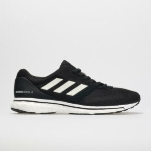 adidas adizero adios 4 Men's Running Shoes Core Black/White Size 12 Width D - Medium